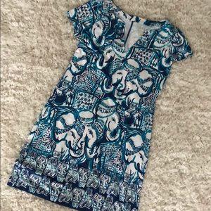 Lilly Pulitzer Elephant Blue Dress XS